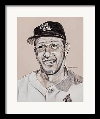 Stan Musial Drawings Framed Prints
