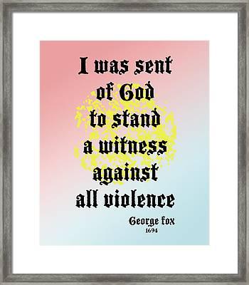 Stand Against Violence Framed Print