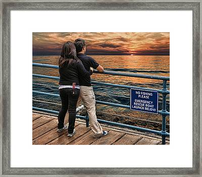 Stand By Me .... Framed Print