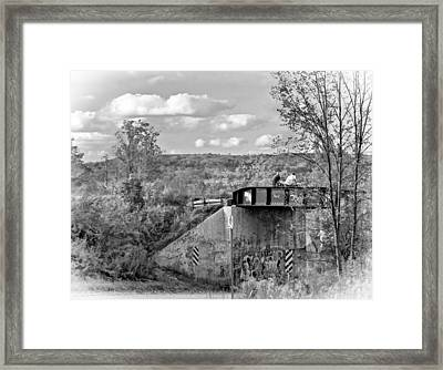 Stand By Me - Paint Bw Framed Print by Steve Harrington