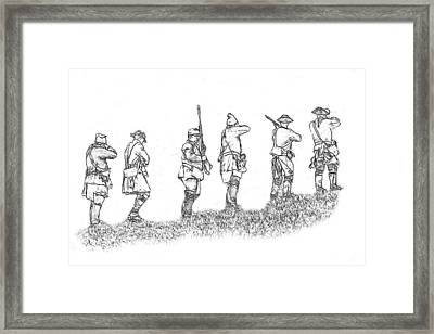 Stand Fast Soldier Sketch Framed Print by Randy Steele