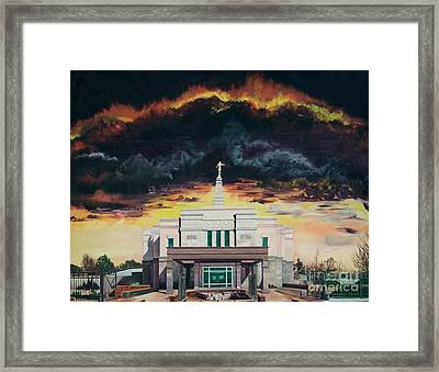 Stand In Holy Places Framed Print by Jane Autry