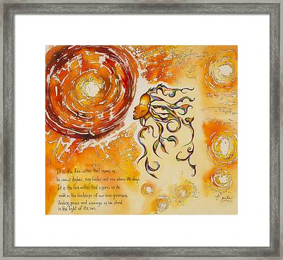 Stand In The Sun Framed Print