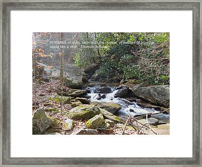 Stand Like A Rock Framed Print