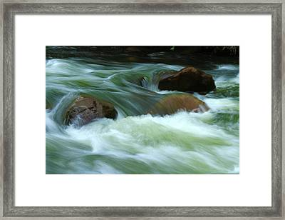 Framed Print featuring the photograph Stand Like A Rock by Marie Leslie