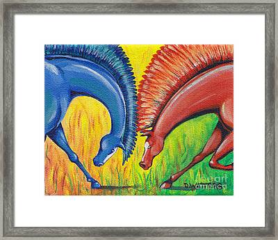 Stand-off Framed Print by Darlene Watters