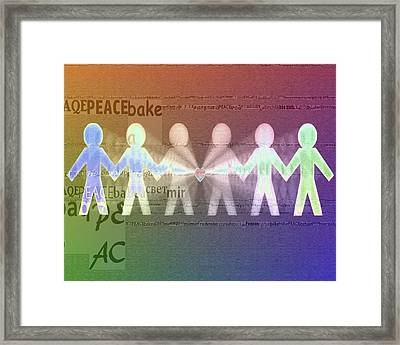 Stand Together In Peace Framed Print