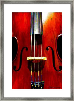 Stand Up Bass Framed Print by Bill Cannon