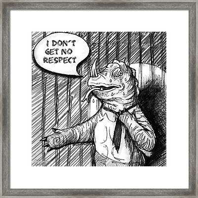 Stand Up Chameleon Framed Print by Cristophers Dream Artistry