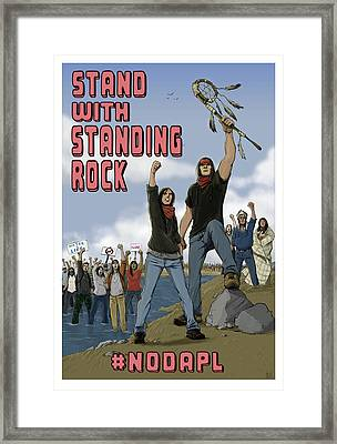 Stand With Standing Rock Framed Print by Amy Umezu