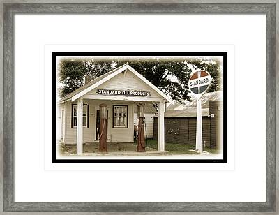 Standard Station - Jackson Co. Fair Grounds Minnesota Framed Print by Gary Gunderson