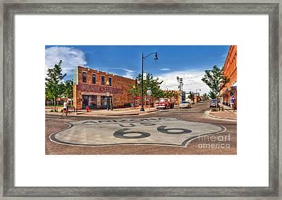 Standin On The Corner Route 66 Framed Print by John Kelly