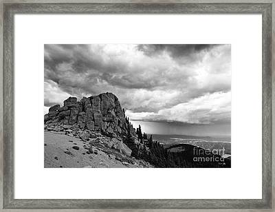 Standing Against The Storm Framed Print by Scott Pellegrin