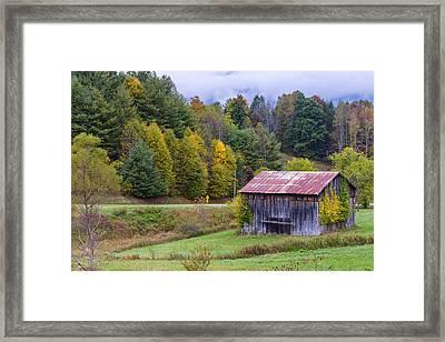 Tenessee Roadside Barn Framed Print