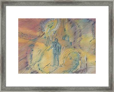 Standing At The Crossroads Framed Print
