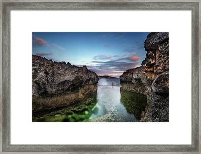 Framed Print featuring the photograph Standing At The Tip Of Sea by Pradeep Raja Prints