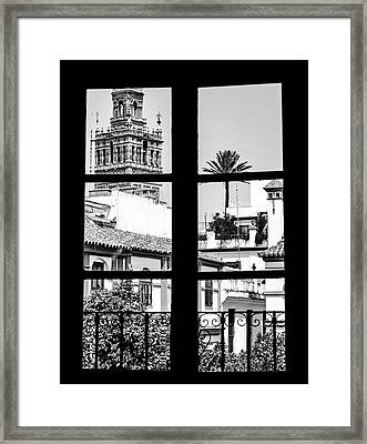Standing At The Window Framed Print by Andrea Mazzocchetti