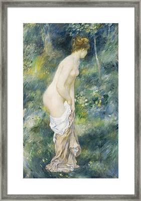 Standing Bather Framed Print by Pierre Auguste Renoir