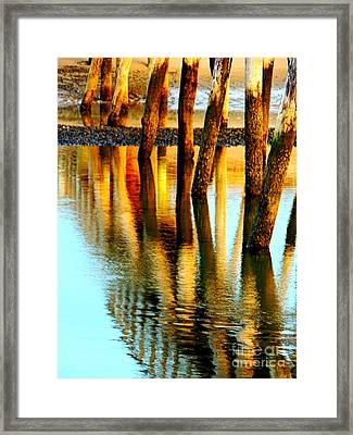 Standing Beams Framed Print by Marcia Lee Jones