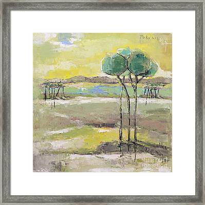 Standing In Distance Framed Print by Becky Kim