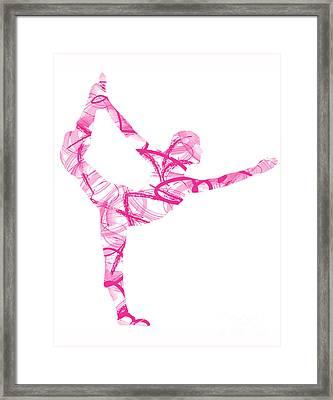 Yoga Pose Asana Standing Bow Pose Framed Print