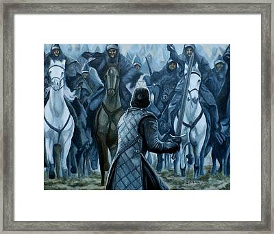 Framed Print featuring the painting Standing Brave by Al  Molina