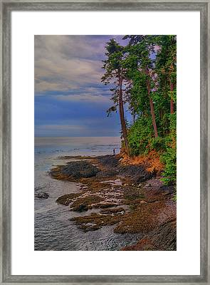 Standing By The Sea Framed Print