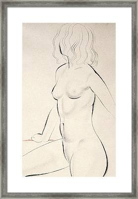 Standing Female Nude Framed Print