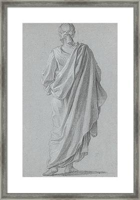 Standing Figure Viewed From Behind Framed Print