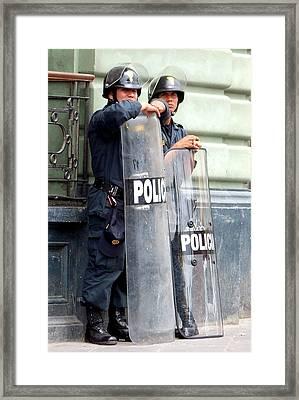 Standing Guard Framed Print by Karen Wiles
