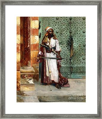 Standing Guard Framed Print by Rudolphe Ernst