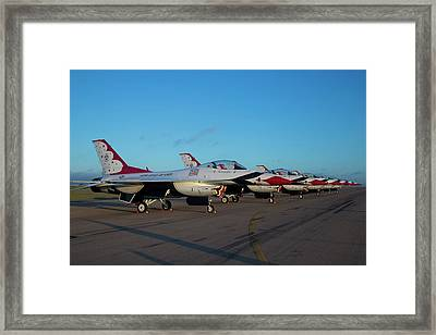 Standing In Formation Framed Print