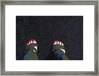 Standing In Space Framed Print by Karol Livote