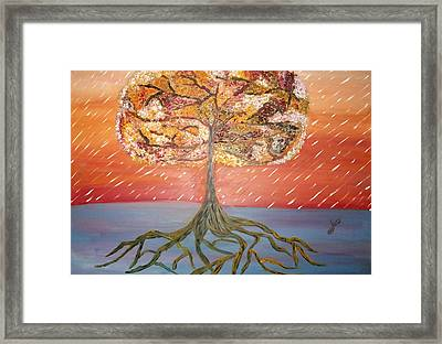 Standing In The Storm Framed Print by Alexandra Torres