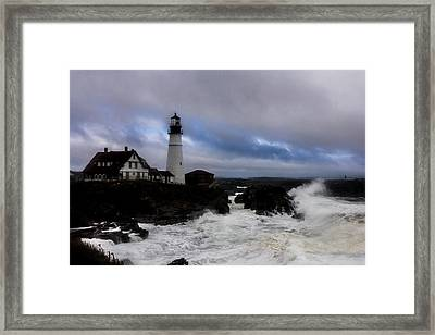 Standing In The Storm Framed Print