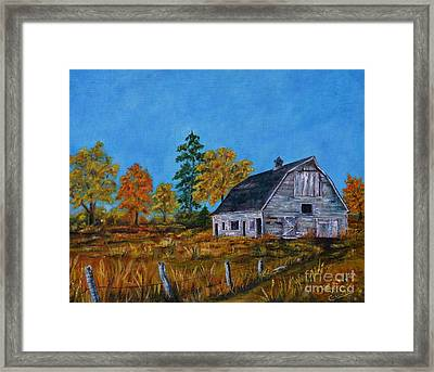 Standing In The Weather Framed Print by Vicki Caucutt
