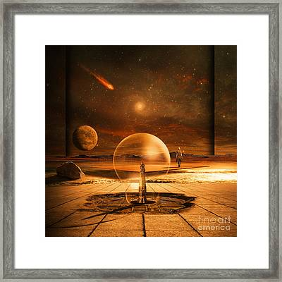 Standing In Time Framed Print by Franziskus Pfleghart