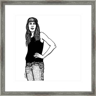 Standing Lady Framed Print by Karl Addison