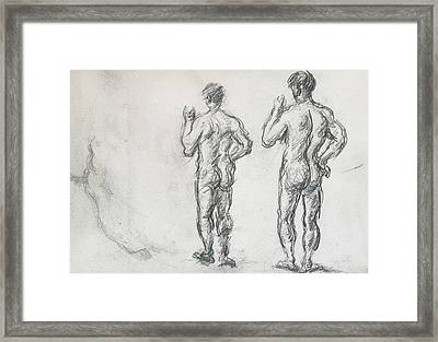 Standing Male Bather  Framed Print