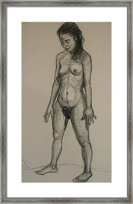 Standing Nude 5 Framed Print by Donelli  DiMaria