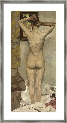 Standing Nude Framed Print by George Hendrik Breitner