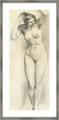 Standing Nude Framed Print by William Edward Frost