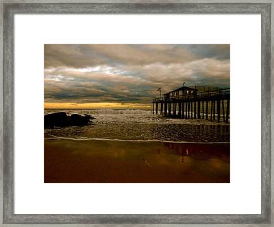 Standing On Stilts. Framed Print