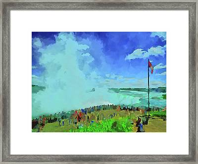 Standing On The Brink Framed Print