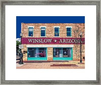 Eagles - Standing On The Corner  Framed Print