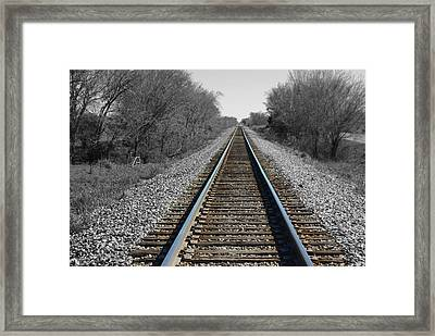 Standing On The Tracks Framed Print by Robyn Stacey