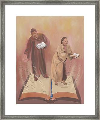 Standing On The Word Framed Print