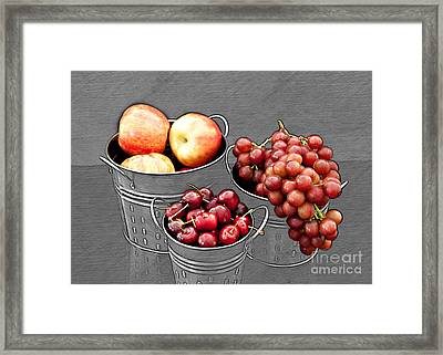 Framed Print featuring the photograph Standing Out As Fruit by Sherry Hallemeier