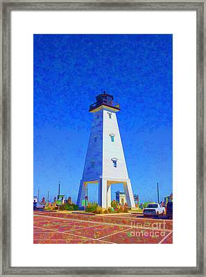 Standing Proud Lighthouse Framed Print