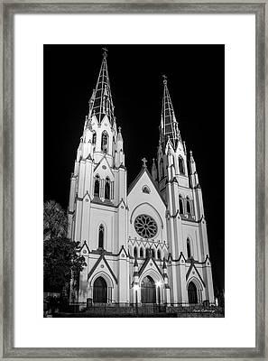 Standing Tal B Wl Cathedral Of St John The Baptist Historic Savannah Georgia Art Framed Print